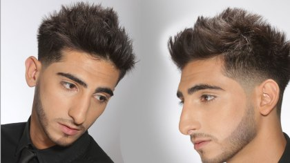 Faux-Hawk--Mohawk-Texturized-Faded-and-Tapered-with-Beard