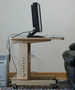 Image of adjustable height desk.