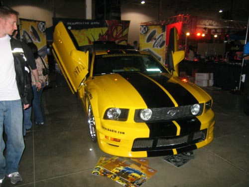 Yellow and black Ford Mustang from Hot Import Nights 2007 Washington DC