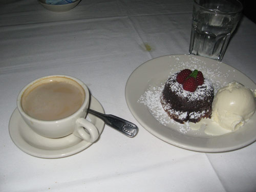 Hot chocolate cake from Morton\'s