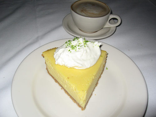 Key lime pie from Morton\'s