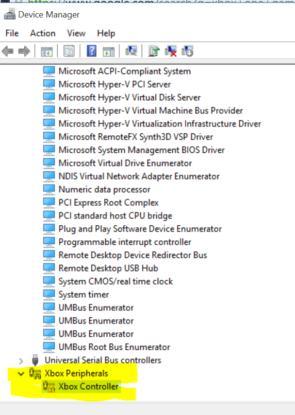 device-manager-xbox-gamepad