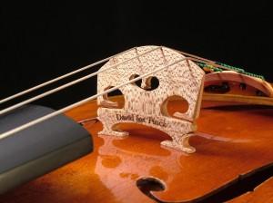 Viola bridge by David Finck