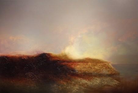 """Mythos"" Oil, Metal Leaf on Panel 46"" x 68"" Copyright 2012 by Steven DaLuz"