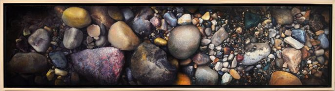"Chaos is Inherent in all Compounded Things, 24""x96"", oil on panel $12,000"