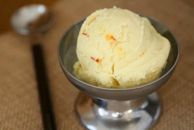 Coconut saffron ice cream