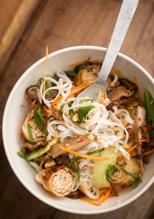 Vietnamese Rice Noodle Salad Bowl - David Lebovitz