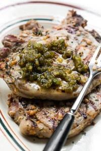 aillade with pork chop recipe