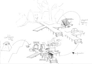 skizze produkjtionsskulptur treindl rauer kleiner