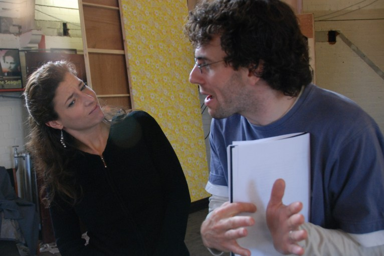 David Smith and Amy Rhiannon Worth in Rehearsal - Image by Neil Sissons