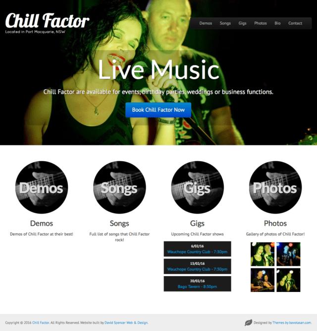 New Website Launch: Chill Factor (www.chillfactormusic.com.au)