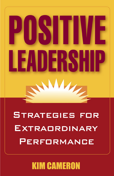 Positive Leadership Book Cover (Kim Cameron)