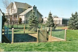 post_and_wire_fence_around_garden
