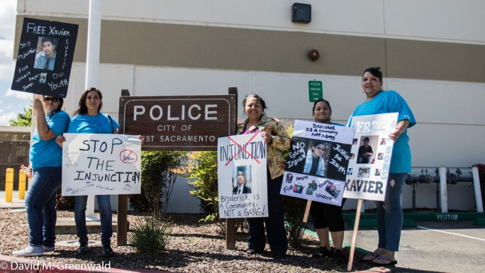West Sacramento Resident Call For End of Gang Injunction; Justice for Juveniles in System