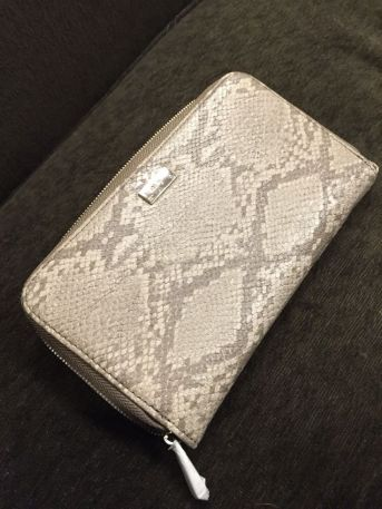 $55 VALUE - All About The Benjamins wallet in putty snake color by Thirty-One Gifts.