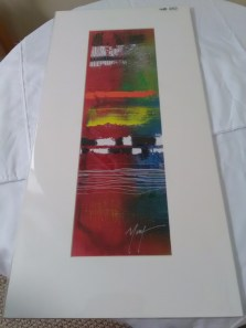 Red colorful print by Marvin Murphy