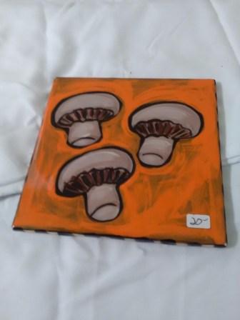 Orange mushroom tile by Toni & Jay Mann