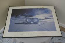 "$85 VALUE - ""Snow Infinity"" framed print by Martin Hill donated by the Art Spot"