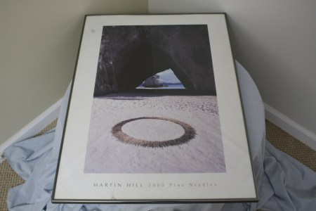 "$125 VALUE - ""2000 Pine Needles"" framed print by Martin Hill donated by The Art Spot"