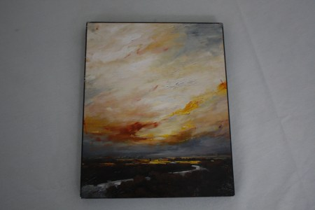 $40 VALUE - Abstract sky painting by artist Li Wang