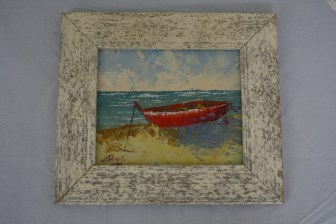 "$99 VALUE - ""Province"" canoe painting by artist Frederic Payet"