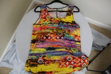 $125 VALUE - Chiffon top with mosaic print by artist Denise Karbassi