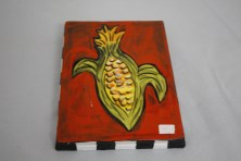 $45 VALUE - corn wallhanging by artists Toni & Jay Mann