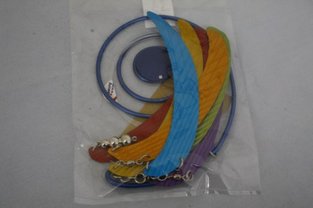 "$58 VALUE - ""Rainbo Whorl"" mobile by artists Marvin & Michelle Shafer"