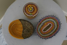 $30 VALUE - set of three colorful baskets