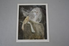 $35 VALUE - woman holding bird print by artist Kate Morgan