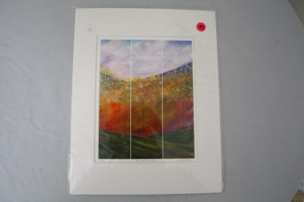 "$49 VALUE - ""The Distant Hills"" matter print by artist Mary Johnston"