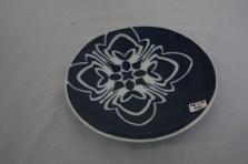 $35 VALUE - Blue ceramic plate by artist Bulkley