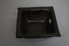 $20 VALUE - Brown, square ceramic bowl by Yourist Studio Community artist