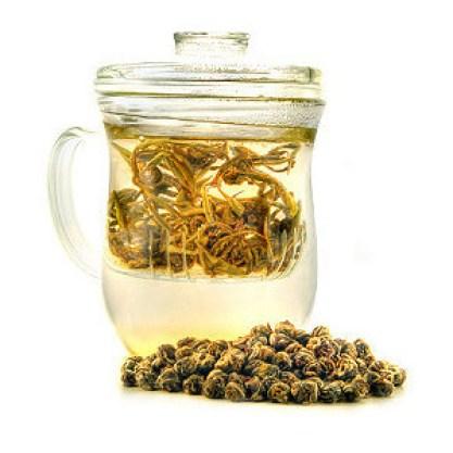 $50.90 VALUE - Teavana Joli tea mug with infuser & Rise + Shine yerba mate, black, and oolong teas (2 available)