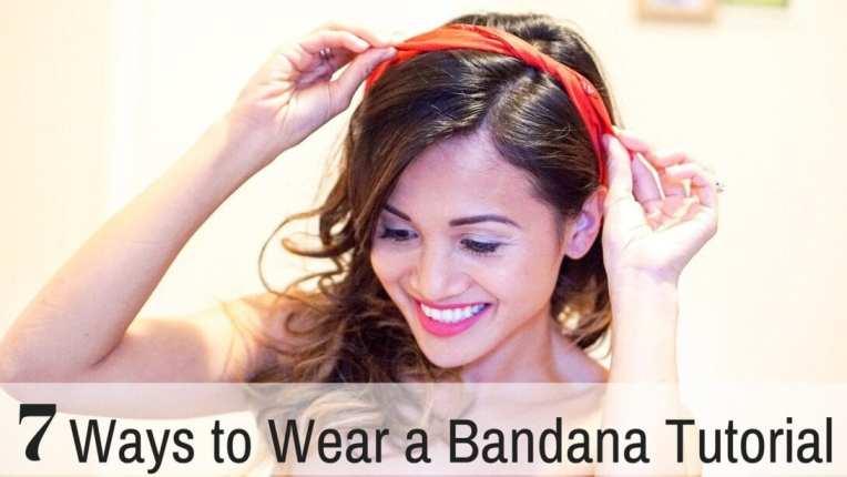 7 ways to Wear a Bandana Tutorial