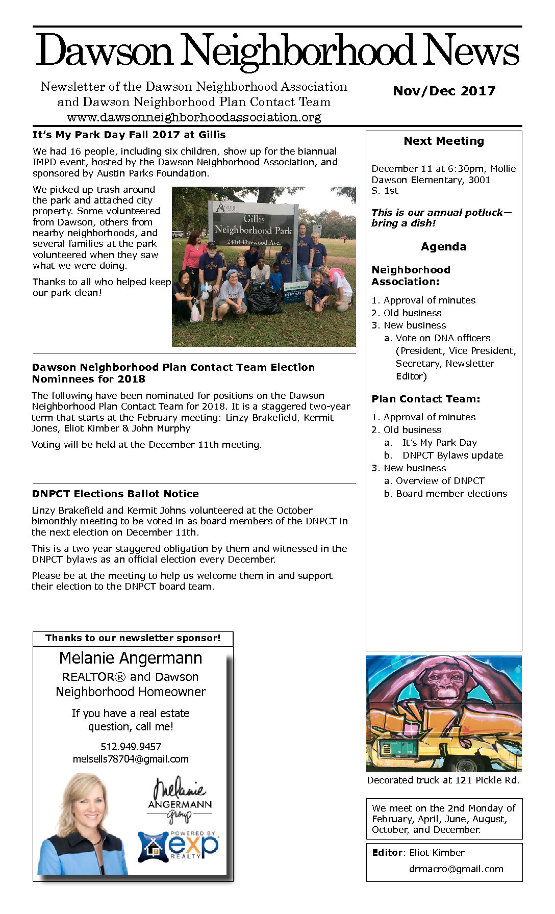 Dawson Neighborhood Newsletter November/December 2017