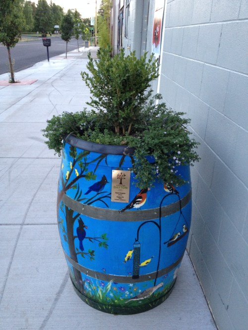 Medium Of Wine Barrel Planter