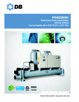 Poseidon-Water cooled screw liquid chillers