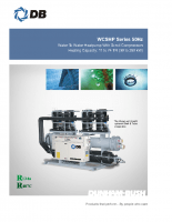 Water to water heatpump with scroll compressors