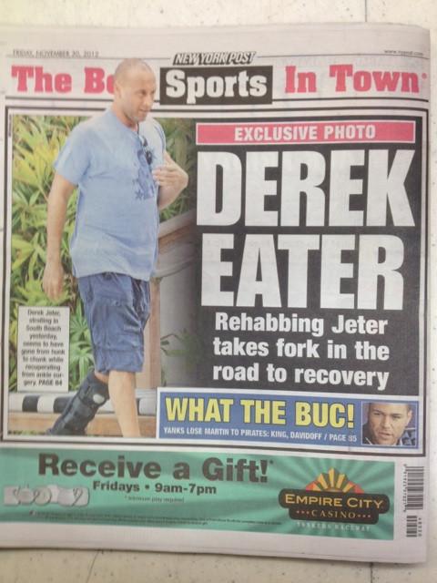 Derek Jeter Weight Gain Pics Go Viral