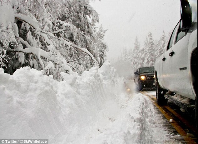 Four-wheel drive: Heavy trucks were needed to plow out roads and power through the massive drifts