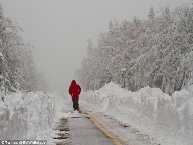! Whiteface Mountain in Upstate New York reported 34 inches of snowfall on Sunday - a bizarre record