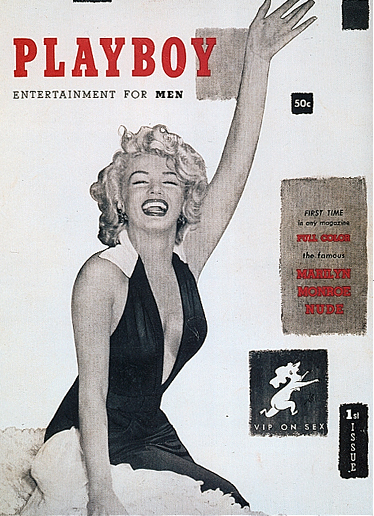 Hefner sold first issue of playboy for 50 cents a copy