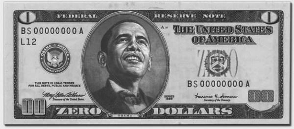 obama zero dollars