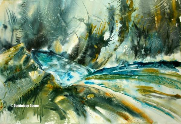 Près de la source danse le feu. Près de la source vibre l'air. Près de la source se sent vivre la terre. (D.Pons) (134:098) COPPE Dominique