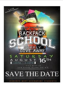 OCASE Foundation Annual Backpack School Supply Giveaway