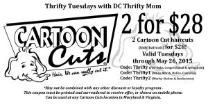 Thrifty Tuesday Discount @ Cartoon Cuts [participating Maryland/Virginia locations]