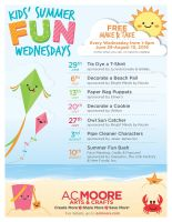 Kids Summer Fun Wednesdays with A C Moore