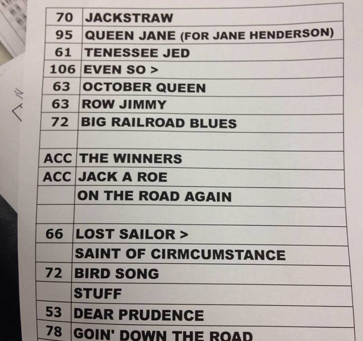 SETLIST: Ratdog Friday  March 14, 2014  Tennessee Theatre, Knoxville, TN