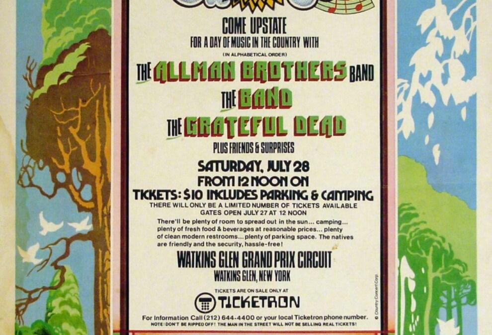 VIDEO: The scene at Watkins Glen Summer Jam 1973 Grateful Dead #Dead50
